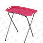 Metal TV Tray, Outdoor Barbecue Long Legs Tin Tray