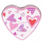Heart Shape Jewelry Tin Can, heart-shape Valentine gift tin box